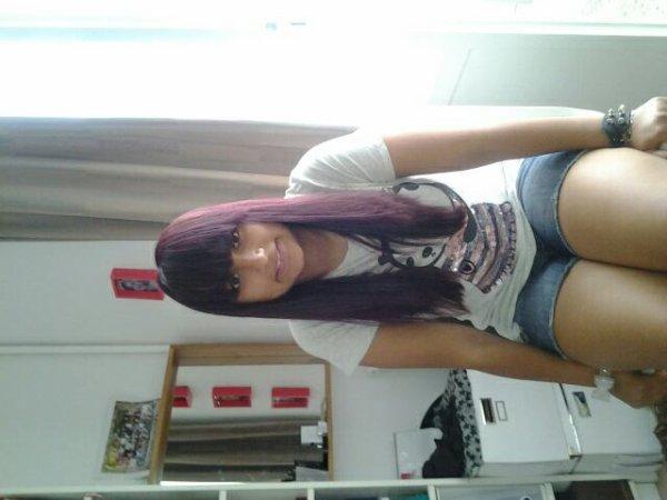 Cheveux couleur violine ^°^ enfin !