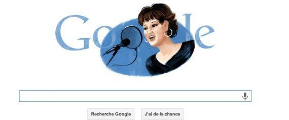 Google rend hommage à Warda Al Jazairia avec un doodle