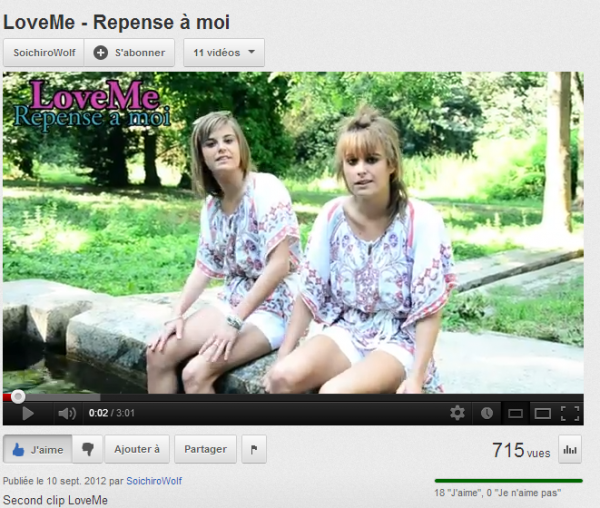 LoveMe- Repense a Moi version album   (2012)