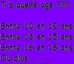 Ta quelle age