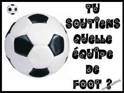 Tu soutiens quelle équipe de foot