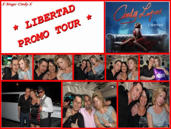 ıllı.  Tour promo du single ℒibertad de Cindy ℒopes ıllı.