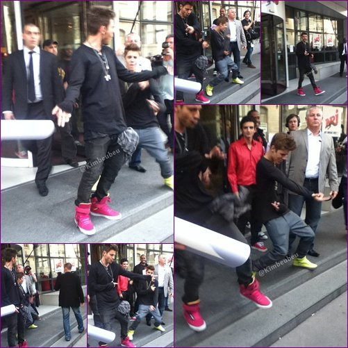 Bieber and the crew in paris :)))