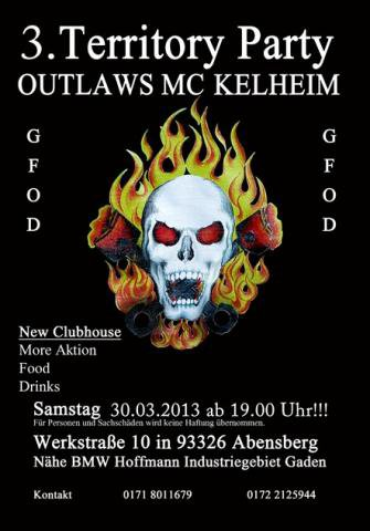 fête europe des outlaws mc