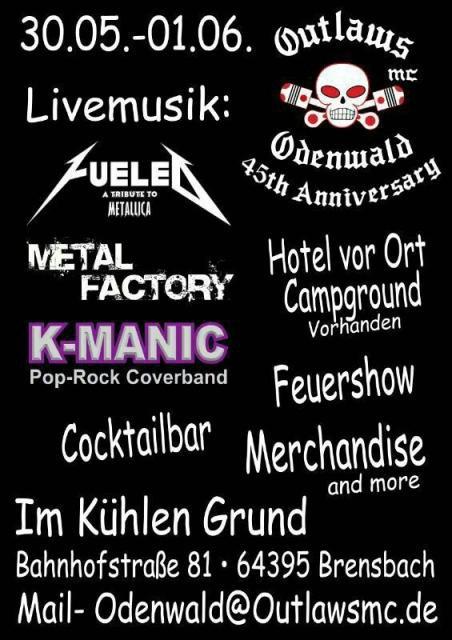 fête europe outlaws 2014