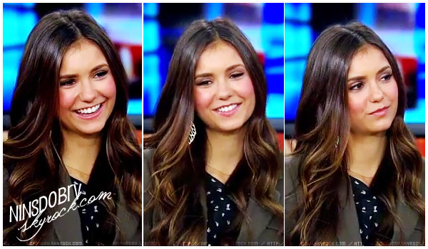 // Nina arriving at The Grove for an interview on Extra on September 27, 2012 in Los Angeles, CA. + Good Day L.A. (Caps)