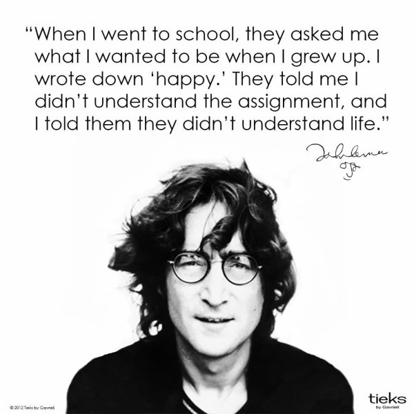 une citation de John que j'adore beaucoup :)