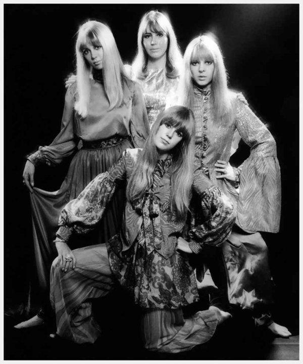 Pattie Boyd, Cynthia Lennon, Maureen Starkey, and Jenny Boyd  1967