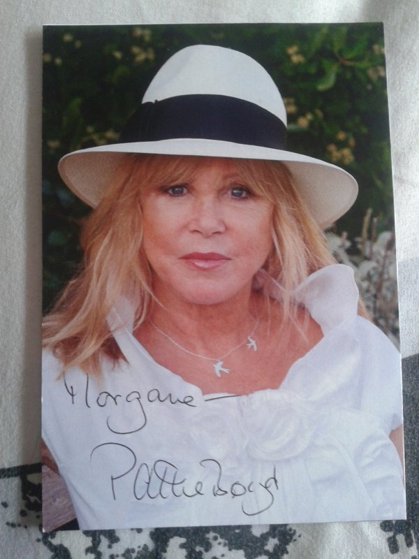 /!\ mon autographe de.... PATTIE BOYD /!\
