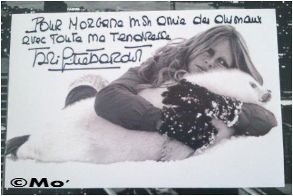 J'ai reçu mon autographe de Brigitte Bardot ♥ :D