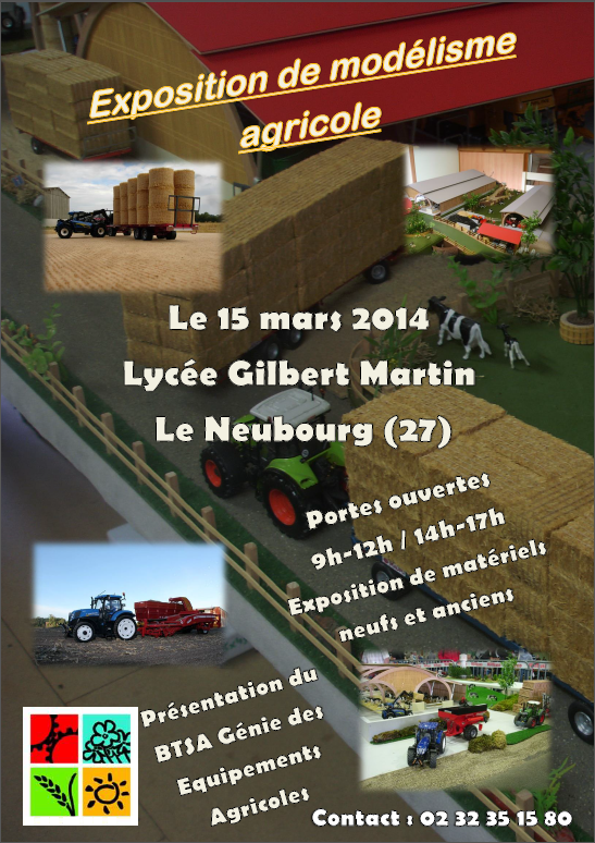 Exposition de miniatures agricoles le 15 mars 2014 ! Support présentation BTSA GDEA