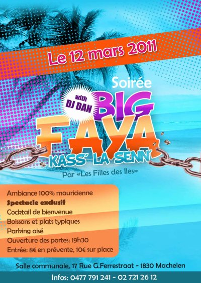 BIG FAYA KASS LA SENN @ mAchelen 12/03/2011 for independance day...BE THER!!!