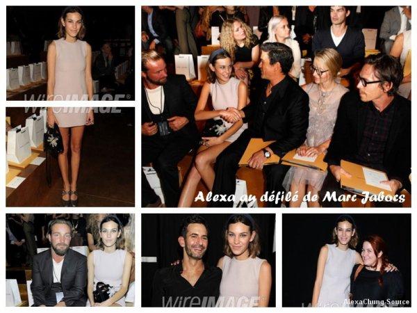 Catégorie : Apparition officielle Le 13.09.10 Alexa au défilé de  Marc Jacobs.