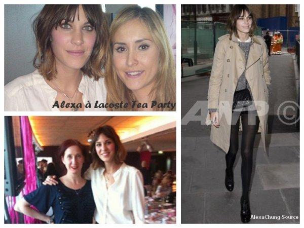 Après la fashion week de Paris, retrouvez ici les autres sorties de Alexa en Octobre 2010.
