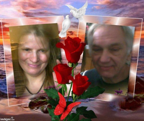 voici un petit montage de moi michouchou et ma femme mon ange gardien