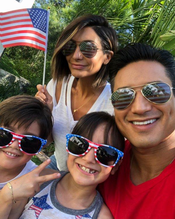 Mario Lopez, Courtney Mazza, Gia et Dominic