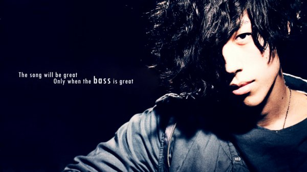 """The song will be great, only when the bass is great"" Flumpool"