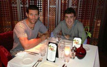 Quand Webber et Alonso dînent ensemble...