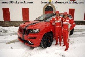 Le garage de Fernando Alonso