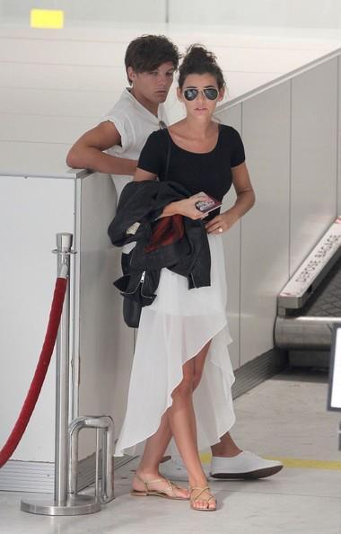 Louis et Eleanor le 10/07 à l'aéroport