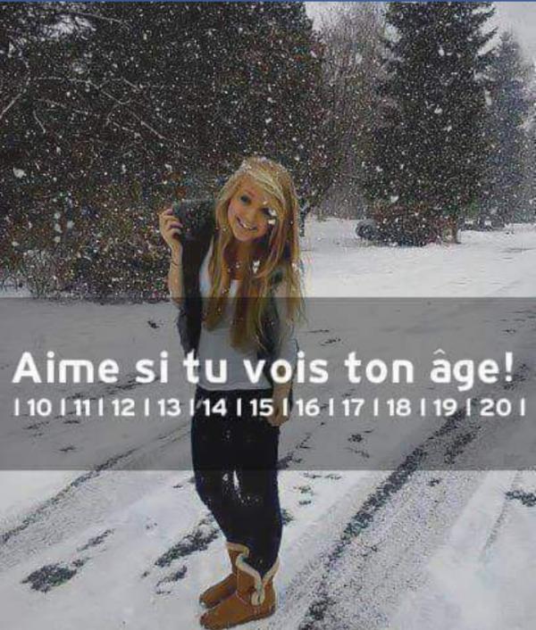 Regarde si ta ton age