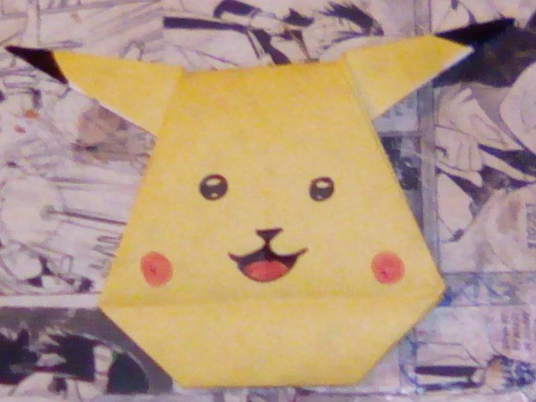 origam pikachu