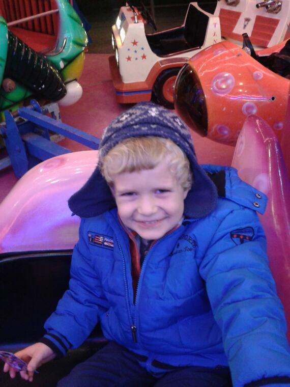 Mon neveu au marche de noel