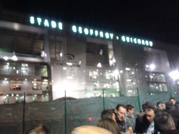 Le stade Geoffroy-Guichard vu de derriere la tribune presidentielle.