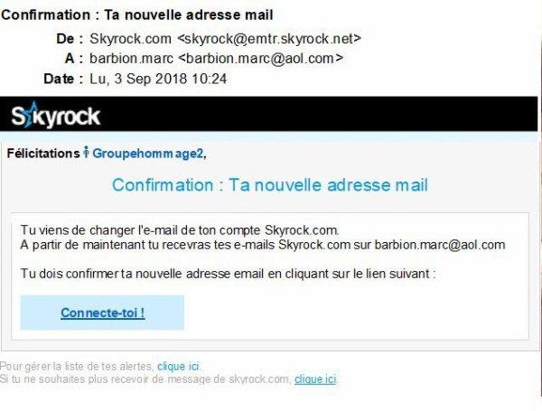 Confirmation : Ta nouvelle adresse mai
