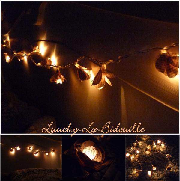 Création ... Guirlande de fleurs lumineuse