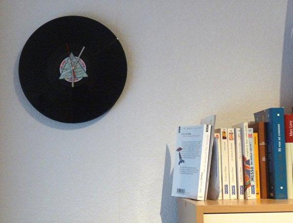 Création ... Horloge vinyle