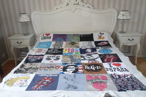 Création ... Couverture patchwork tee-shirts