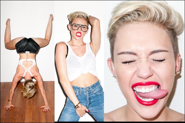 • Vidéo promotionnelle de Miley pour les MTV Music Award du 25 août prochain à New York • Suite du shoot de Terry Richardson • Nouvelle photo de Maxim • Miley arrivant au studio d'enregistrement à Hollywood le 15 août 2013 • Suite du shoot pour le numéro de septembre 2013 d'Harper's Bazaar • Photo pour Notion Magazine • Photos Twitter dont la couverture de son prochain album !