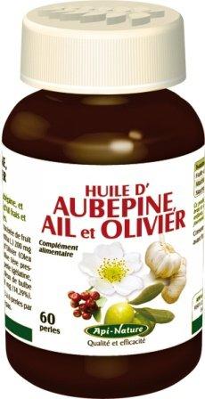 Huiles d'Aubépine, d'Ail et d'Olivier (60 perles de 700 mg) (^‿^)
