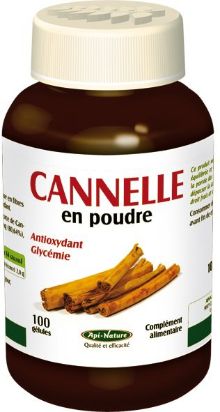 CANNELLE en CAPSULES (Flacon de 100 gélules de 620 mg) (^‿^)