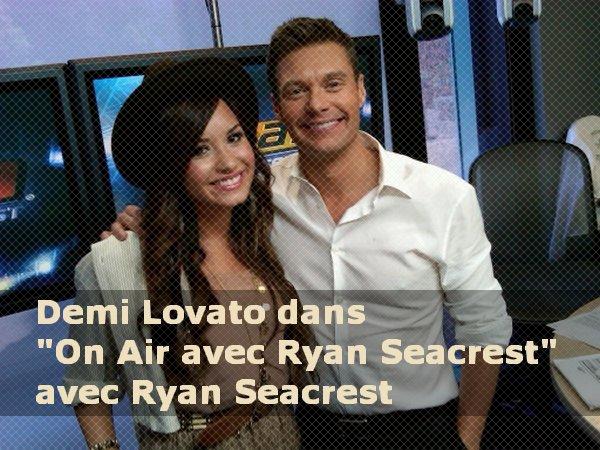 sur KIIS FM radio aux Etats-Unis et Demi sortie au resto.