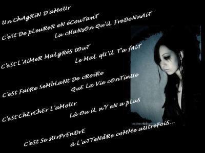 """Septième poème : attention poème triste (""""Séparation"""")"""