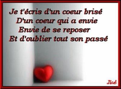Poème de coeur brisé