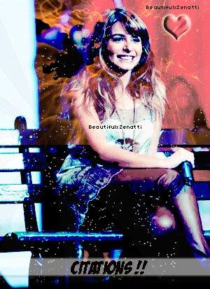 """~ BeautifulxZenatti """"Citations"""" ~ She's The Perfection ♥"""