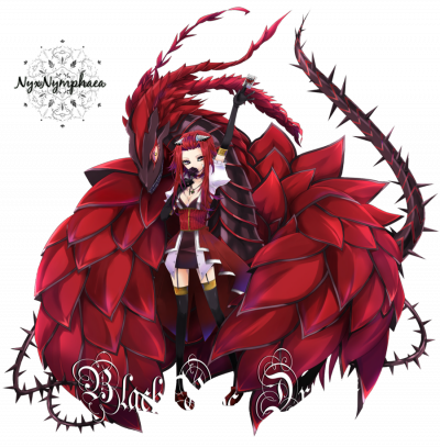 dragon rose noir