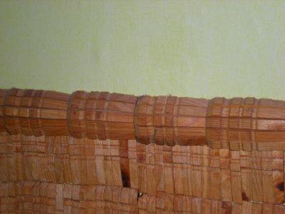 Mur en épingles à linge