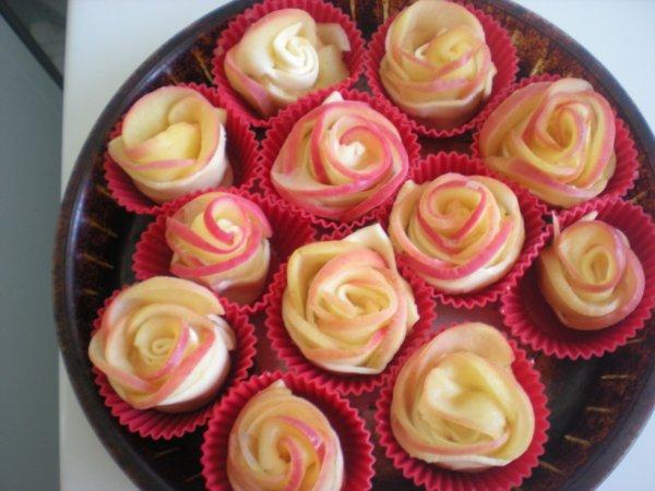 roses en gâteaux