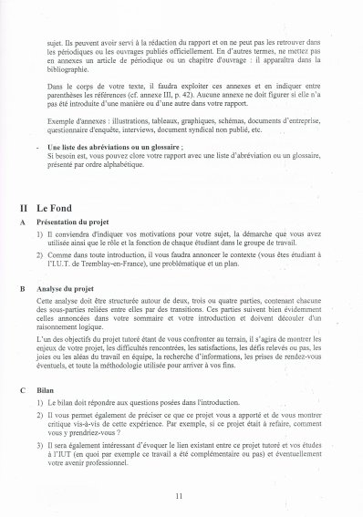 Méthodologie du projet tutoré !