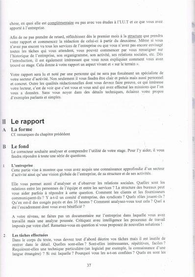 Méthodologie du rapport de stage !