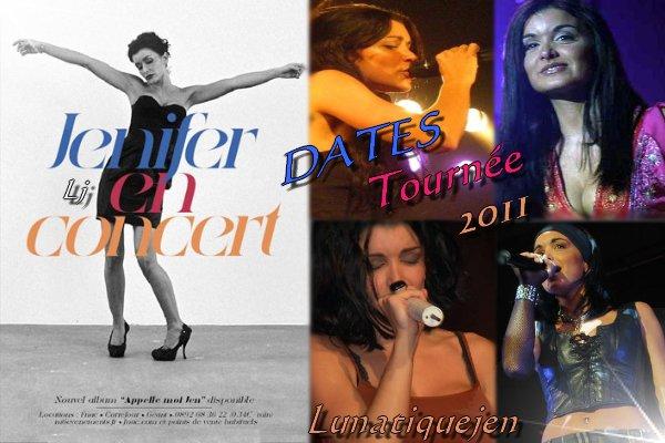 Dates tournée 2011