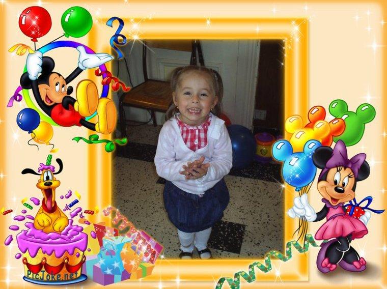 Fabuleux joyeux anniversaire a nos petits enfants maelys 4 ans le 23 et  JD41