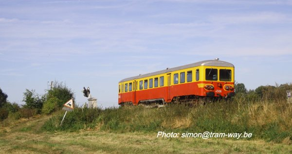 La ligne 287 ex L. 94. en autorail 4506. I