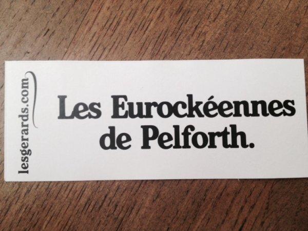 Les Eurockéennes de Pelforth