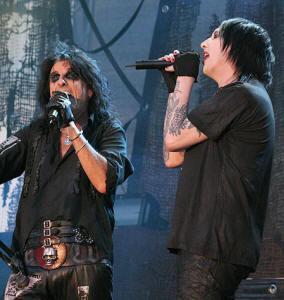 † Alice Cooper & Marilyn Manson en duo †