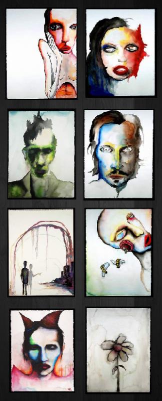 . † Articles suivants : série de peintures de Manson † .